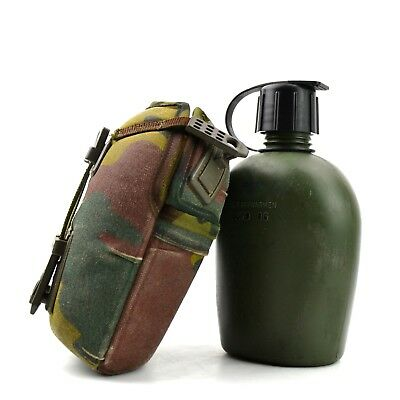 £9.65 • Buy Genuine Belgium Dutch Army Canteen With Camo Cover. Water Bottle Lid Cap