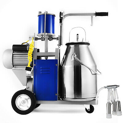 $475.99 • Buy Electric Milking Machine For Farm Cows W/304 Stainless Steel Bucket Cow Milker