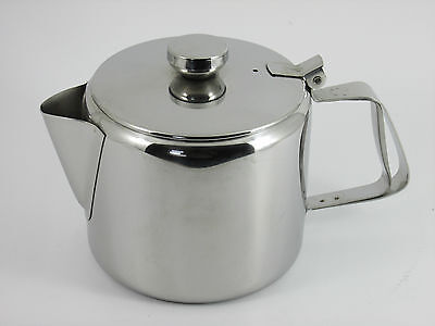 £9.99 • Buy Teapot Stainless Steel 12oz Teapot Coffee Pot With Lid Catering Teapot Restraunt