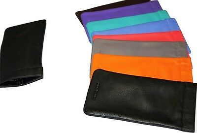£7.49 • Buy Mala Leather Snaptop Reading Glasses Case Various Colours Genuine Leather Sun Sp