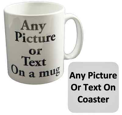 New Personalised Custom Printed Gift White Tea Coffee Mug Your Image Photo Text • 9.99£