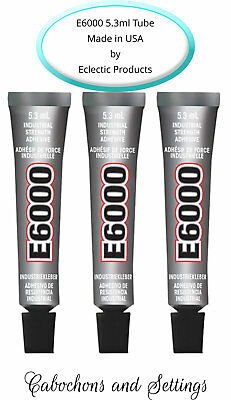 3 X E6000 Glue Industrial Adhesive For Jewellery, Craft, Auto 5.3ml / .18Fl.OZ​ • 3.97£