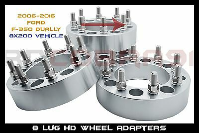 AU269.75 • Buy 4 Wheel Adapters  8x200 2  14x1.5 Studs 8 Lug Ford Dually Wheels Only