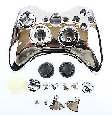 £6.99 • Buy Replacement Custom Chrome Silver Xbox 360 Controller Shell Case Cover