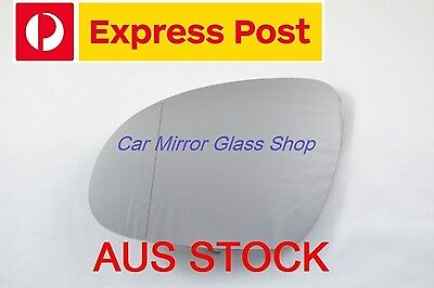 AU16.99 • Buy Left Passenger Side Vw Golf Mk5 2004-2008 Mirror Glass With Heated Back Plate
