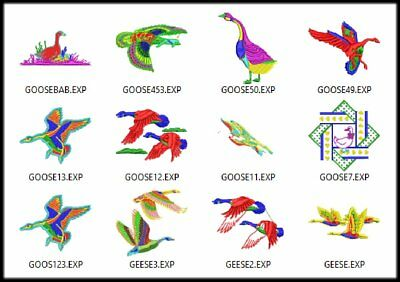 $10.99 • Buy Package 12 Geese Embroidery Digitized Designs To Run Machines