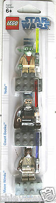 Lego Star Wars Yoda Count Dooku & Mace Windu Magnet Set Brand New In Sealed Pack • 13.29£