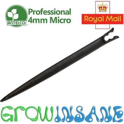 Antelco Asta Clip Support Stake 4mm Micro Irrigation Tube Pipe Drip Hold Down • 4.75£