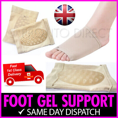 Foot Arch Support Silicone Gel Holes Breathable Pain Plantar Fasciitis Orthotic • 2.49£