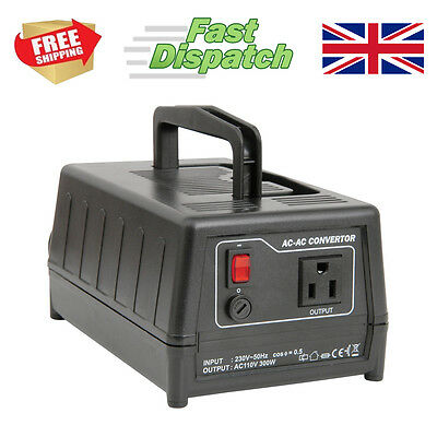 Step Down Mains Voltage Power Transformer Converter 240V UK To 120V USA 300W • 49.99£