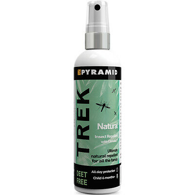 60ml Pyramid Trek Natural Deet Free Insect Midge Mosquito Repellent Spray • 7.99£