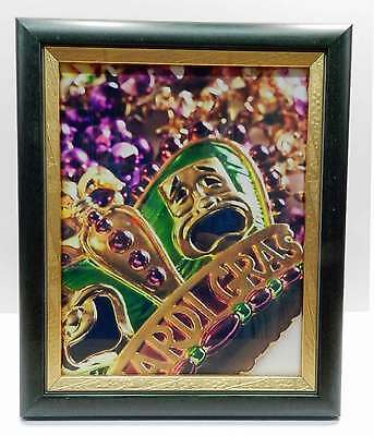 AU32.25 • Buy 8x10 Green & Gold Mardi Gras Wood Picture Photo Frame 8 X 10 New
