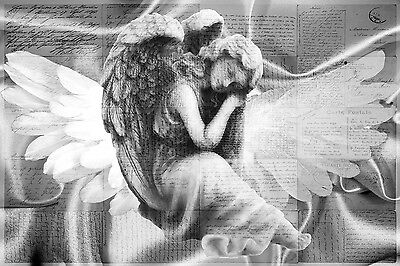 £29.99 • Buy Stunning Silver Angel 😇 Canvas #55 Romantic Vintage Letters Wall Art A1 Canvas