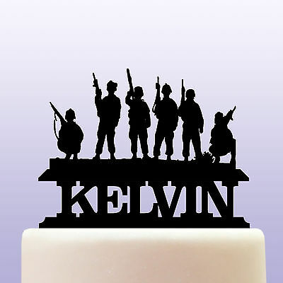 £12.99 • Buy Personalised Acrylic Army Soldier Commando & Marine Cake Topper Decoration