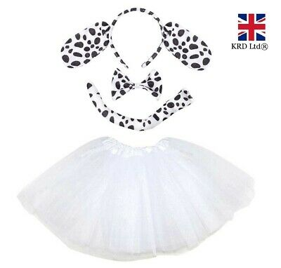 DALMATIAN TUTU COSTUME Kids Ladies Fancy Dress Book Day Week Instant Animal UK • 9.35£