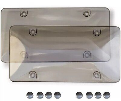 $9.95 • Buy Smoke Gray Tinted  License Plate Cover Shield Tag Protector Frame For Car Auto