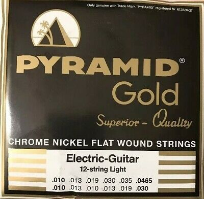 $ CDN50.72 • Buy Pyramid Gold Flatwound 12 String 10-46 Guitar Strings Set Flat Wound.