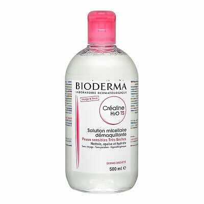 Bioderma Crealine H2O Non-Rinse Cleanser Solution Very Dry Sensitive 500ml #1527 • 15.88£