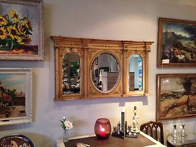 £495 • Buy C19th Water Gilded Overmantle Mirror