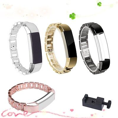 AU17.30 • Buy Replacement Stainless Steel Metal Strap Watch Band Bracelet For Fitbit Alta HR