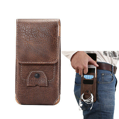 AU8.13 • Buy Leather Belt Clip Case Holster Pouch Card Slot Case Cover For IPhone 12 8 7 Plus