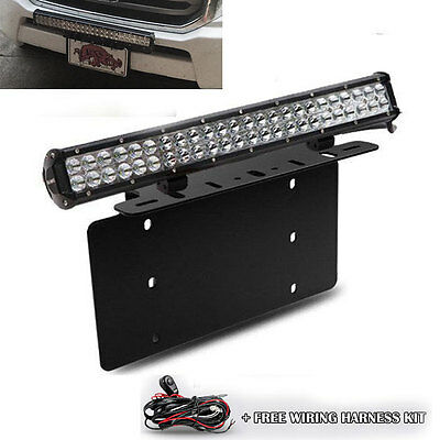 $65.54 • Buy For TOYOTA 4Runner Tacoma 126W LED Light Bar Front License Plate Mount Bracket