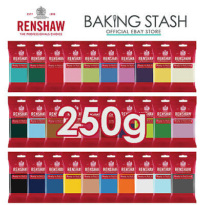 Renshaw - Ready To Roll Fondant Icing Sugarpaste - All Colours - 250g  • 2.85£