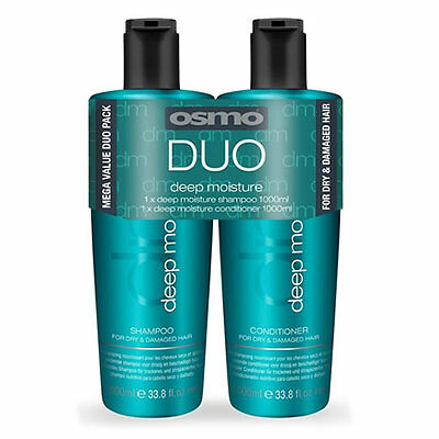 £19.99 • Buy Osmo Deep Moisturising Duo Twin Pack 1000ml Shampoo And Conditioner + Pumps