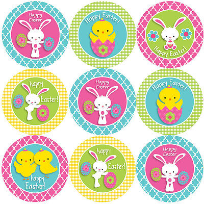 144 Happy Easter 30mm Children's Reward Stickers For Teachers, Party Bags • 3.29£