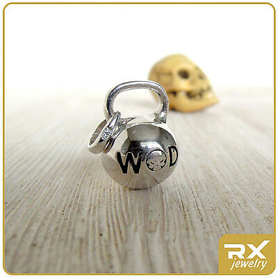 $48 • Buy WOD Crossfit Kettlebell Charm Jewelry Burpees Necklace Cross Fit Man Woman Gift