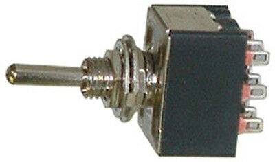 One Miniature 3PDT Toggle Switch 3 Position ON-OFF-ON 16076 • 4.98$