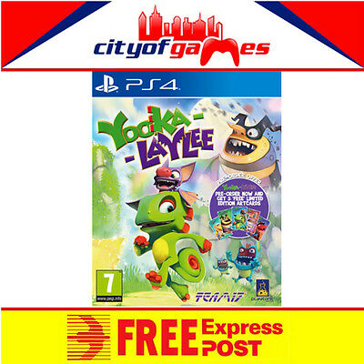 AU34.95 • Buy Yooka Laylee Game PS4 New & Sealed  Free Express Post In Stock Now