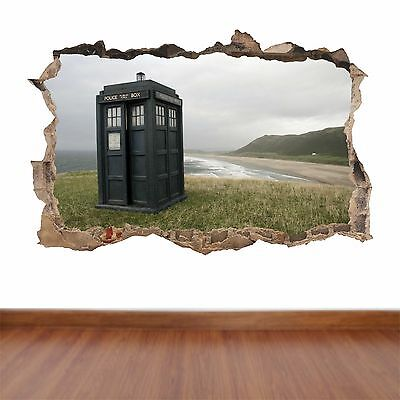 Doctor Who Tardis Hole In The Wall Full Colour Feature Sticker Decal Kids   • 15.99£