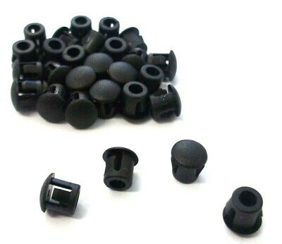 6.4mm Round Domed Grommet. Plastic End Plug. Blanking. Tube Inserts. Top Quality • 2.64£