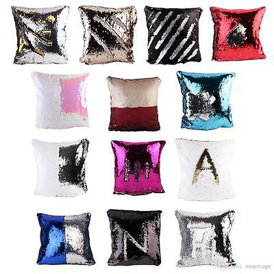 16  Magic Mermaid Pillow Case Reversible Sequin Glitter Sofa Cushion Cover Touch • 4.98£