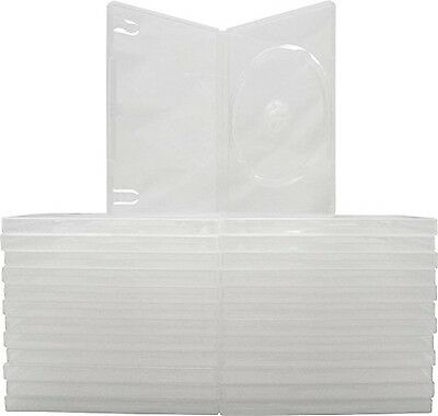25 Empty Standard Clear Replacement Boxes / Cases For Single DVD Movies #DVBR... • 14.99£