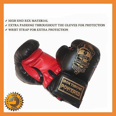 AU22.58 • Buy 10 Oz Leather Boxing Gloves Sparring Mma Punch Bag Mitt Ufc Fight Training Kick