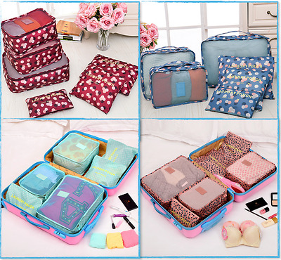 AU15.99 • Buy 6PCS Travel Luggage Suitcase Organiser Packing Cubes Set Bags Backpack Pouches