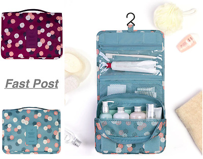 AU12.99 • Buy Large Waterproof Travel Toiletry Bag Hanging Organiser Makeup Cosmetic Bag
