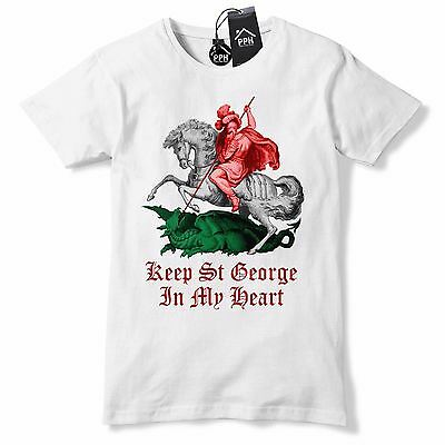 £9.95 • Buy English St George In My Heart Colour T Shirt England Shirt Dragon Slayer Top GD5