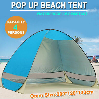 AU25.70 • Buy Pop Up Beach Tent Canopy UV Camping Fishing Mesh Sun Shade Shelter 4 Persons