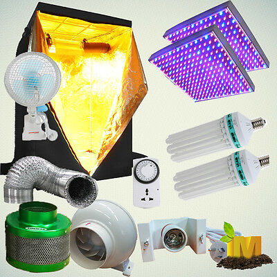 AU289.90 • Buy LED Grow Light Hydroponics Grow Tent CFL 6400K 2700K 130w Lamp Clip Fan Filter