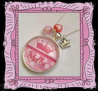 Personalised Necklace Pendant ANY NAME Girls Children's Jewellery In Gift Box  • 5.99£