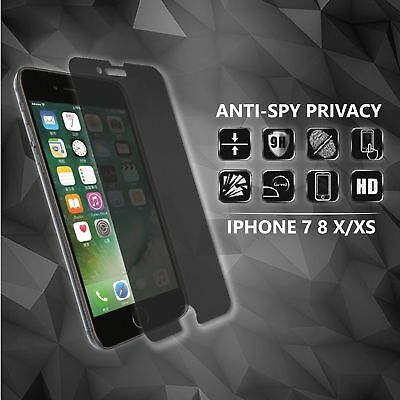 AU5.92 • Buy IPhone Anti-spy Privacy Tempered Glass Screen Protector 7 8 X XS XR 11 Pro Max