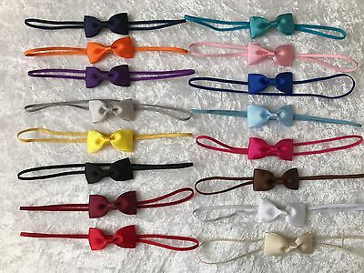 Baby Girls Headband Small Bow Skinny Elastic Hair Accessories Christening  +Lot • 1.50£