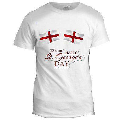 St Georges Day England English Holiday Knight Festival Party Mens T Shirt • 5.99£