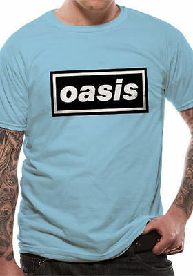£14.90 • Buy Oasis T Shirt Band Logo Definitely Maybe Official Licensed Blue Mens Rock Merch