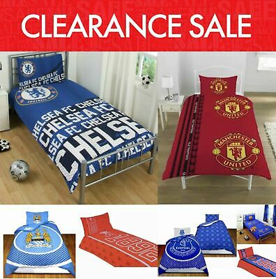 £19.95 • Buy Clearance Football Club Kids Bedding Single Duvet Quilt Cover Bed Set REDUCED