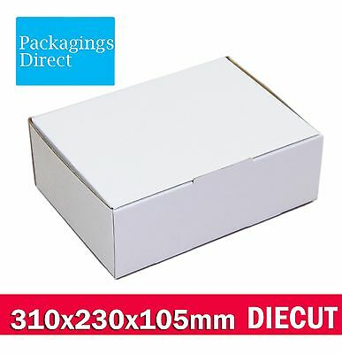 AU39.50 • Buy 50x Mailing Box A4 310x220x102mm Shipping Carton White A4 BM B2 BX2 Size