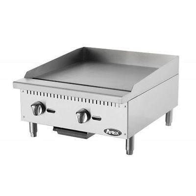 $660 • Buy Atosa ATMG-24 Heavy Duty Stainless Steel 24-Inch Manual Griddle Nature Gas